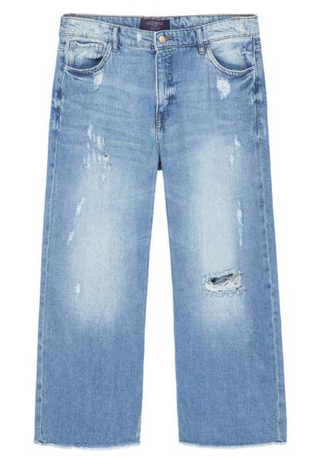 Violeta by Mango: CULOTTE - Flared Jeans - blue