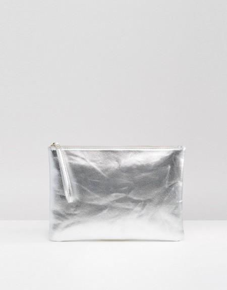 South Beach - Metallic-Clutch - Silber