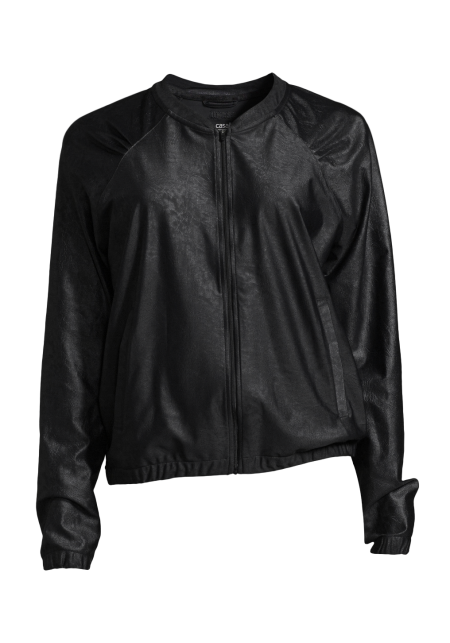 Casall Leather like jacket - Black