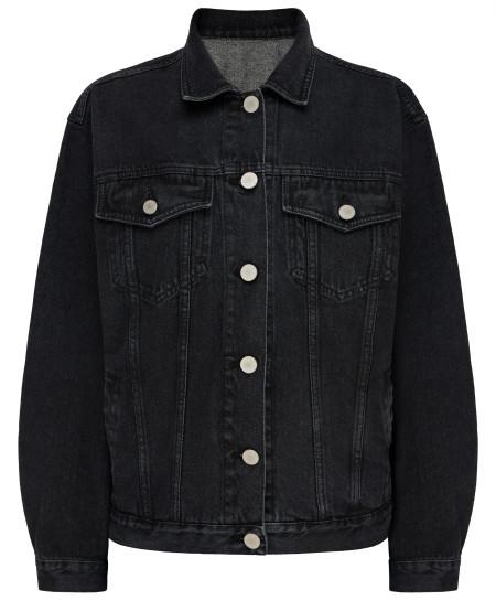 tatman handmade: Denim black jacket oversized