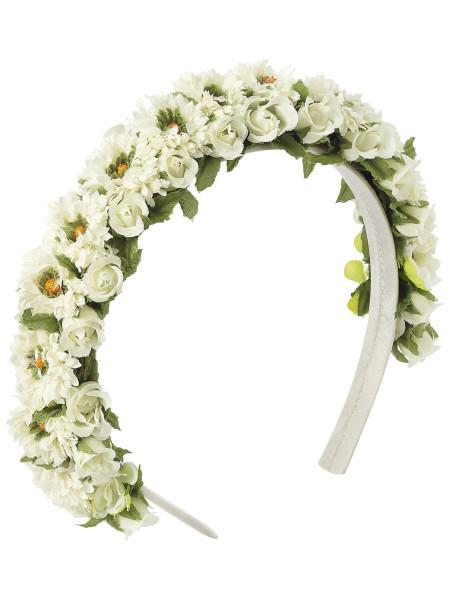 LIMBERRY Blumenkranz in Weiß – MARGARETA weiß