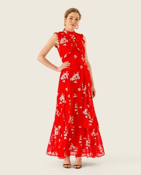 IVY & OAK: Maxi Kleid mit Rüschen