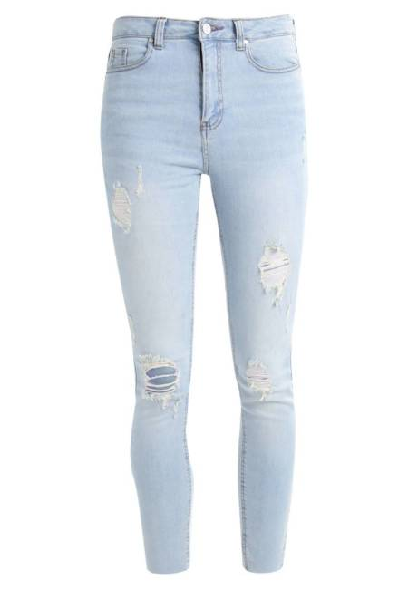 Missguided: SINNER HIGH WAISTED RIPPED - Jeans Skinny Fit - stonewash
