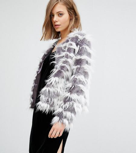 Unreal Fur - Dream - Jacke ohne Kragen - Grau