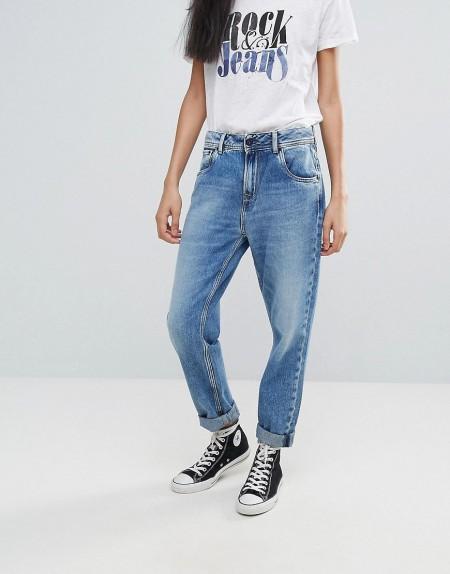 Pepe Jeans - Vagabond - Boyfriend-Jeans - Blau