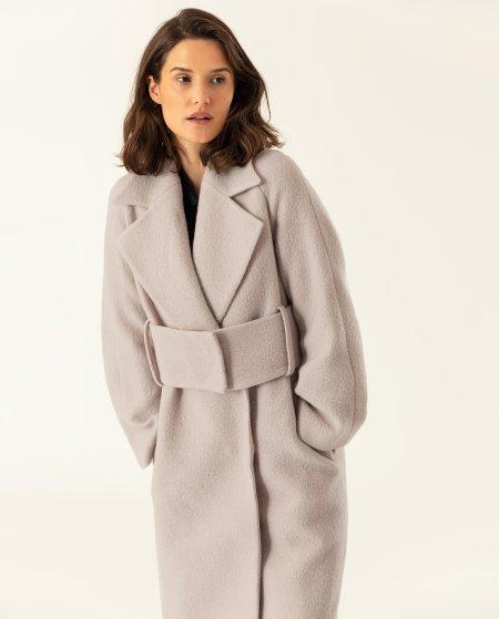 IVY & OAK: Mantel mit breitem Gürtel