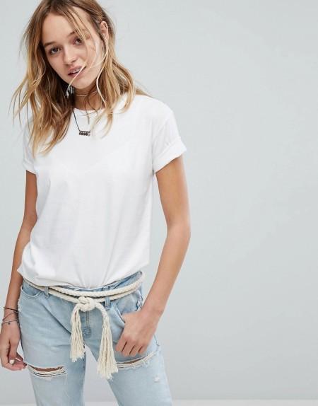 Hollister - Boyfriend-T-Shirt - Weiß