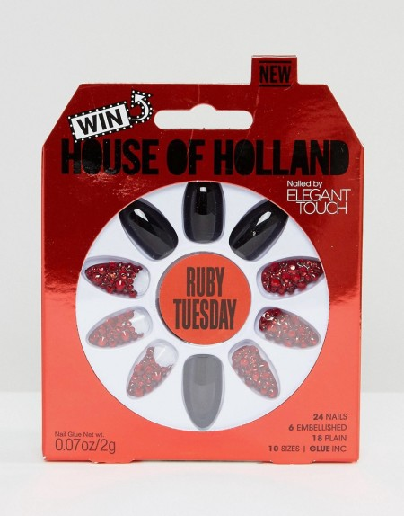 House of Holland Luxe by Elegant Touch - Stiletto-Nägel - Ruby Tuesday - Mehrfarbig