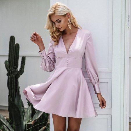 Fashion Movements: soft satin swing dress
