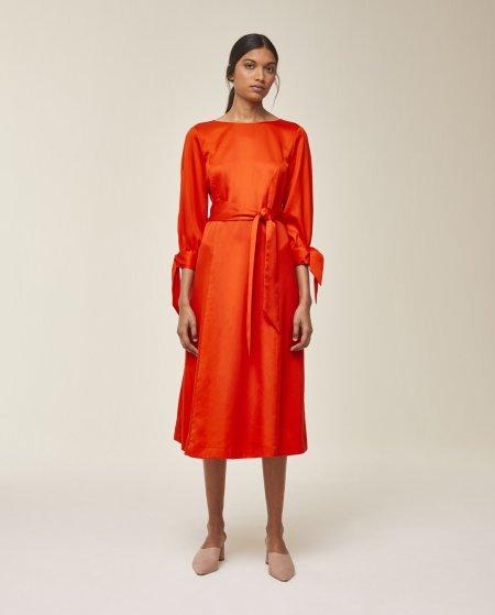IVY & OAK: Midi Kleid mit Schleifendetail