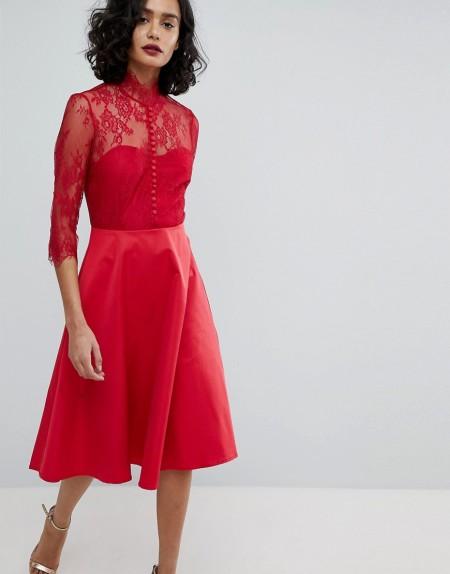 Y.A.S - Kleid mit Rückenausschnitt - Rot