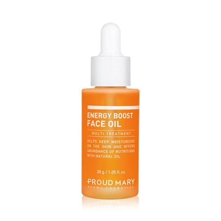 Proud Mary ®: ENERGY BOOST FACE OIL   Ultraleichtes Gesichtsöl zur Verbesserung der Hautelastizität mit 7 Pflanzen- & Blütenölen