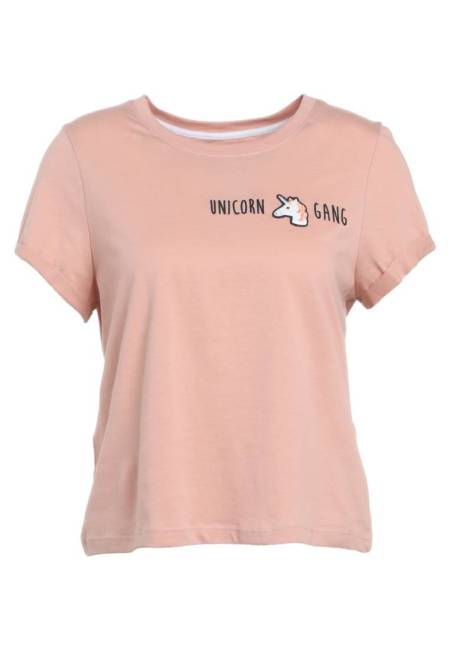 Even&Odd X Visual Statements: T-Shirt print - rose