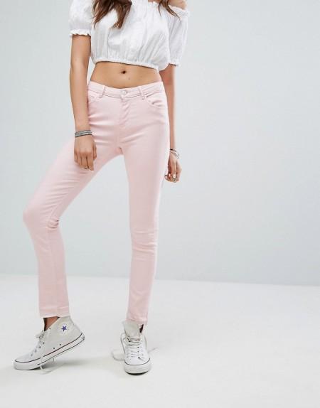Pimkie - Enge Jeans in Pastellrosa - Rosa