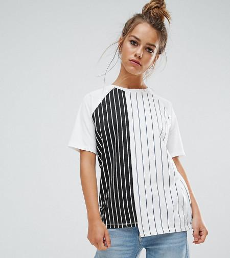 ASOS Petite: ASOS PETITE - T-Shirt mit senkrechten Streifen - Mehrfarbig