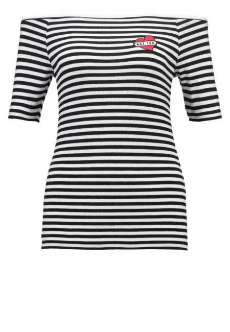 Even&Odd: T-Shirt print - black/white