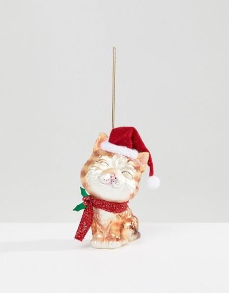 Paperchase - Santa Claws - Weihnachtsdeko mit Katzendesign - Mehrfarbig