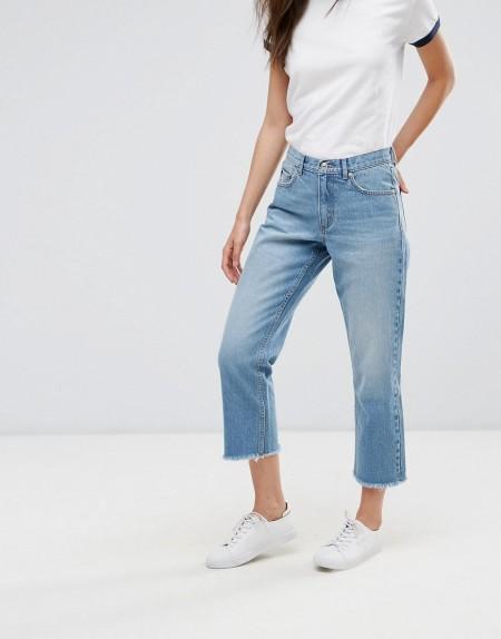 ONLY: Only - Gerade, kurz geschnittene Jeans - Blau