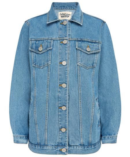 tatman handmade:  Long light denim jacket