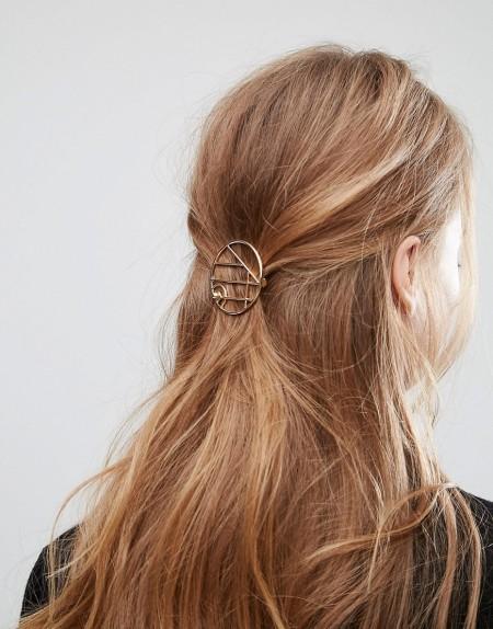 ASOS - Haarspange mit offenem Ringdesign - Gold