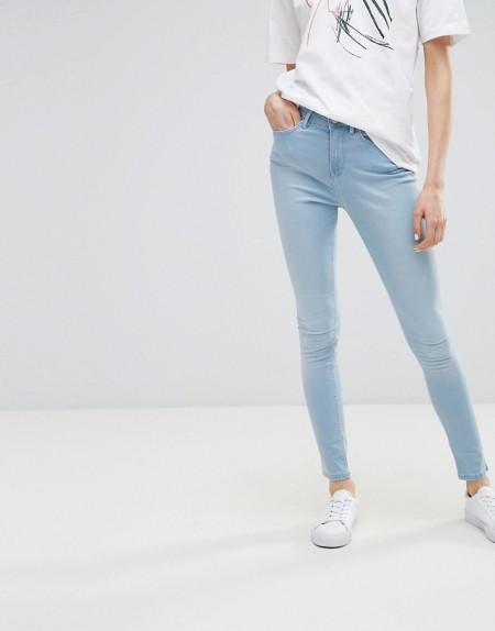 Waven - Asa - Skinny-Jeans mit mittelhohem Bund - Blau