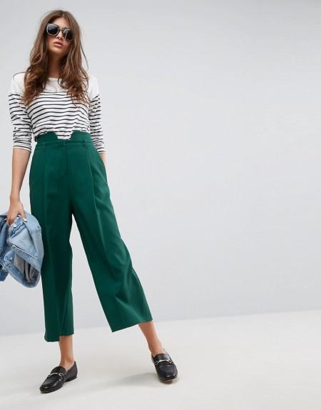 ASOS Tailored - Hosenrock mit Einkerbung an der Taille - Grün