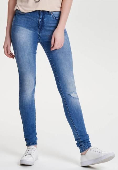 ONLY: PEARL HIGH WAIST - Jeans Slim Fit - medium blue