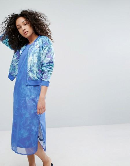adidas Originals - Bomberjacke mit Ozean-Print - Mehrfarbig