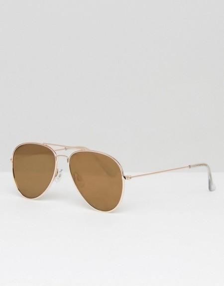 South Beach: Southbeach - Klassische Pilotenbrille in Gold - Gold