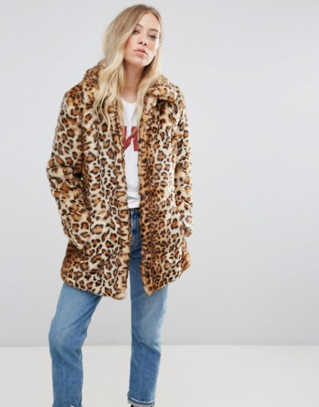 b.young: b.Young - Kunstpelzjacke mit Leopardenmuster - Mehrfarbig