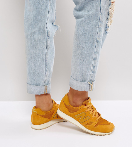 New Balance - 520 - Wildleder-Sneaker in Senfgelb mit Besatz in Metallic - Gelb