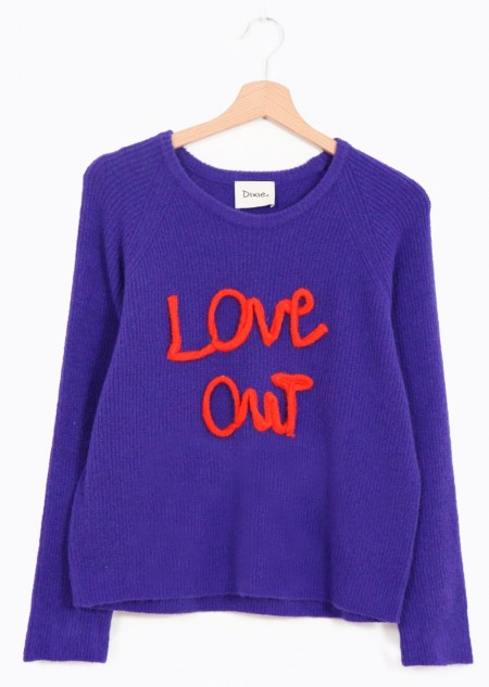 """Dixie Pullover """"Love Out"""" Stickerei-M"""