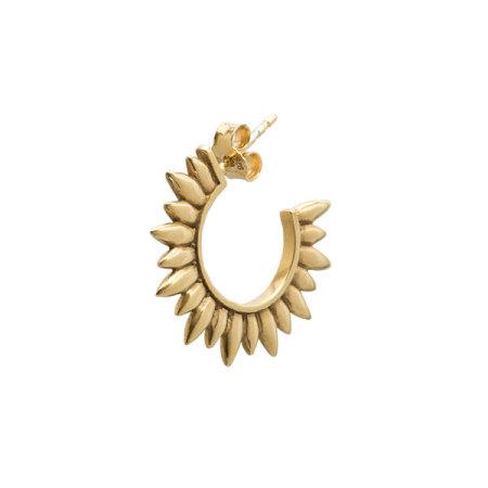 blue billie: Sun Hoop Earring Gold Plated