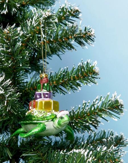 Paperchase - Weihnachtsdeko mit Geschenken und Schildkröte - Mehrfarbig
