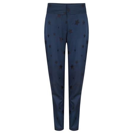 Fabienne Chapot Hose Blau-Schwarz Sterne