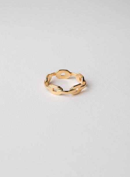 blue billie: Chain Ring Gold