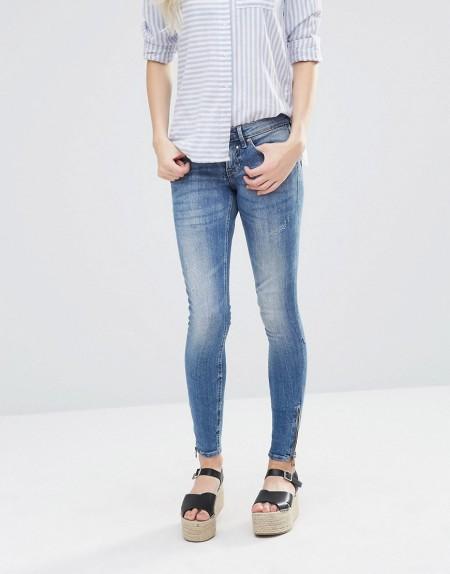 Blend She: Blend - She Glow LW - Enge Jeans - Blau