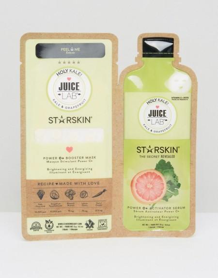 Starskin - JuiceLab Holy Kale Power C+ Booster - Aufhellende Maske - Transparent