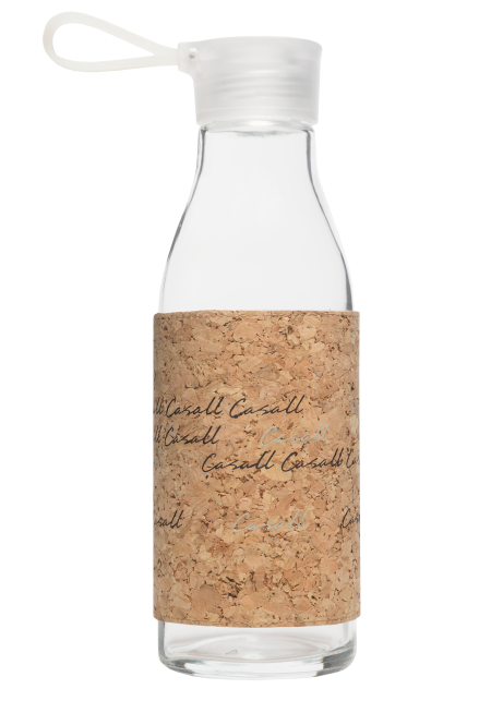 Casall ECO glass bottle 0.6L - Natural cork