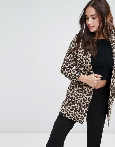 Pimkie - Blazer mit Leopardenmuster - Braun