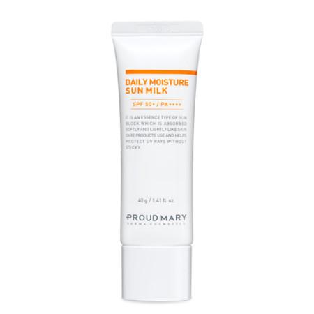 Proud Mary ®: DAILY MOISTURE SUN MILK SPF50+ / PA++++  Ultraleichte Sonnenpflege mit Extrakt aus Lotusblüten & Antioxidantien