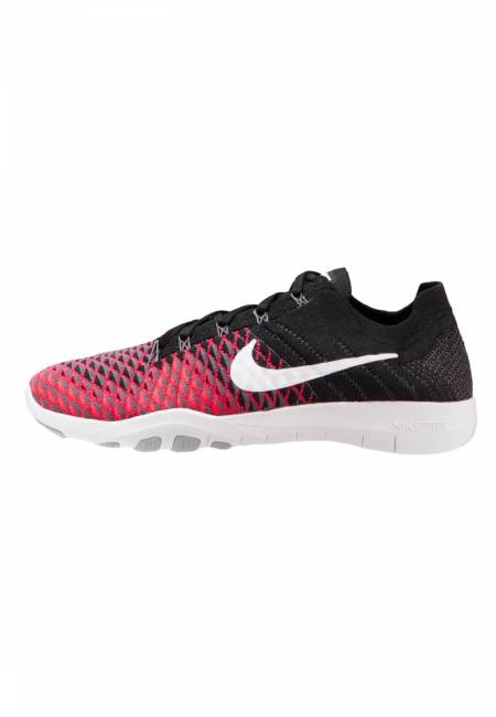 Nike Performance: FREE TR FLYKNIT 2 - Trainings-/Fitnessschuh - black/white/hyper punch/dark grey/wolf grey