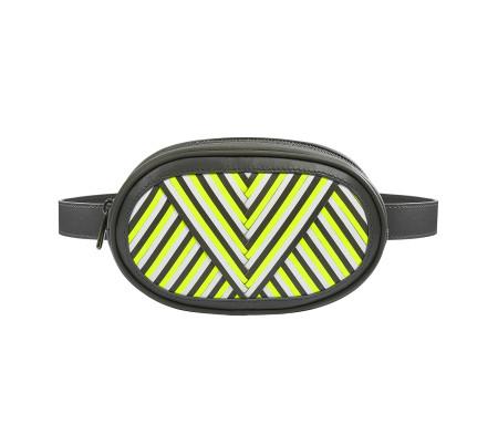 LILI RADU: LILI'S FANNY PACK - Grey/Neon Lime