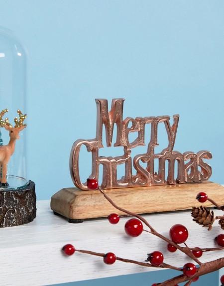 Sass & Belle - Merry Christmas - Weihnachtsdeko in Roségold - Mehrfarbig