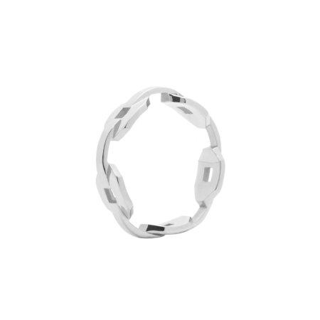 blue billie: Chain Ring Silver
