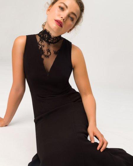 IVY & OAK: Abendkleid Spitzenausschnitt