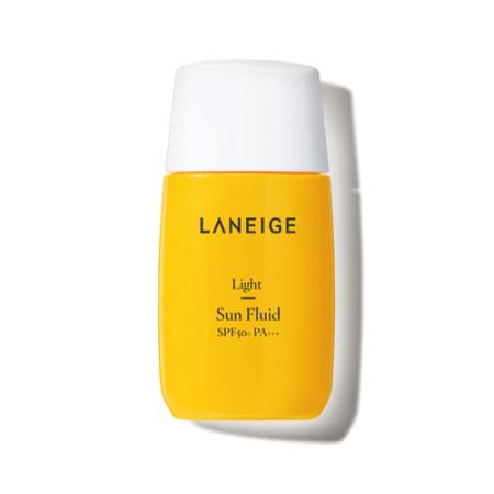 Laneige: LIGHT SUN FLUID SPF50+ / PA+++   Mattierende, beruhigende Sonnenschutzpflege für Mischhaut / ölige Haut (wasserfest)
