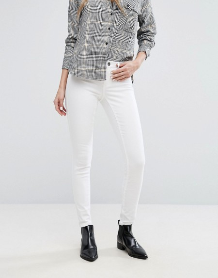 JDY - Skinny-Jeans mit mittelhohem Bund - Weiß