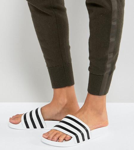 adidas Originals - Adilette - Weiße Sandalen - Weiß