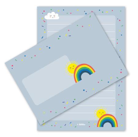 dabelino: Briefpapier: Regenbogen